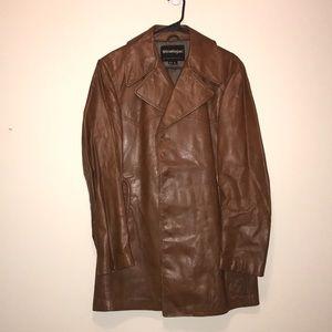 Stratojac leather coat size 42/L